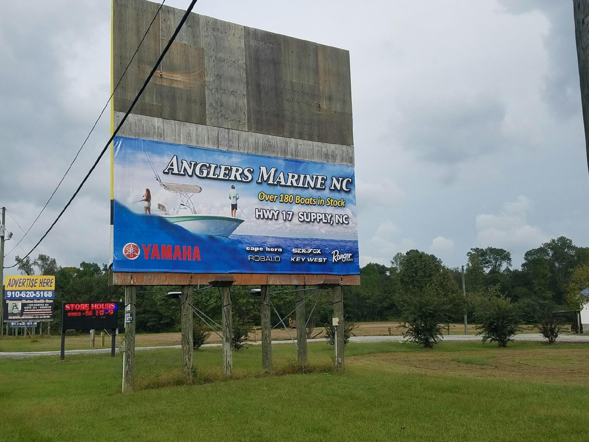 Hwy 11 billboard sign anglers marine