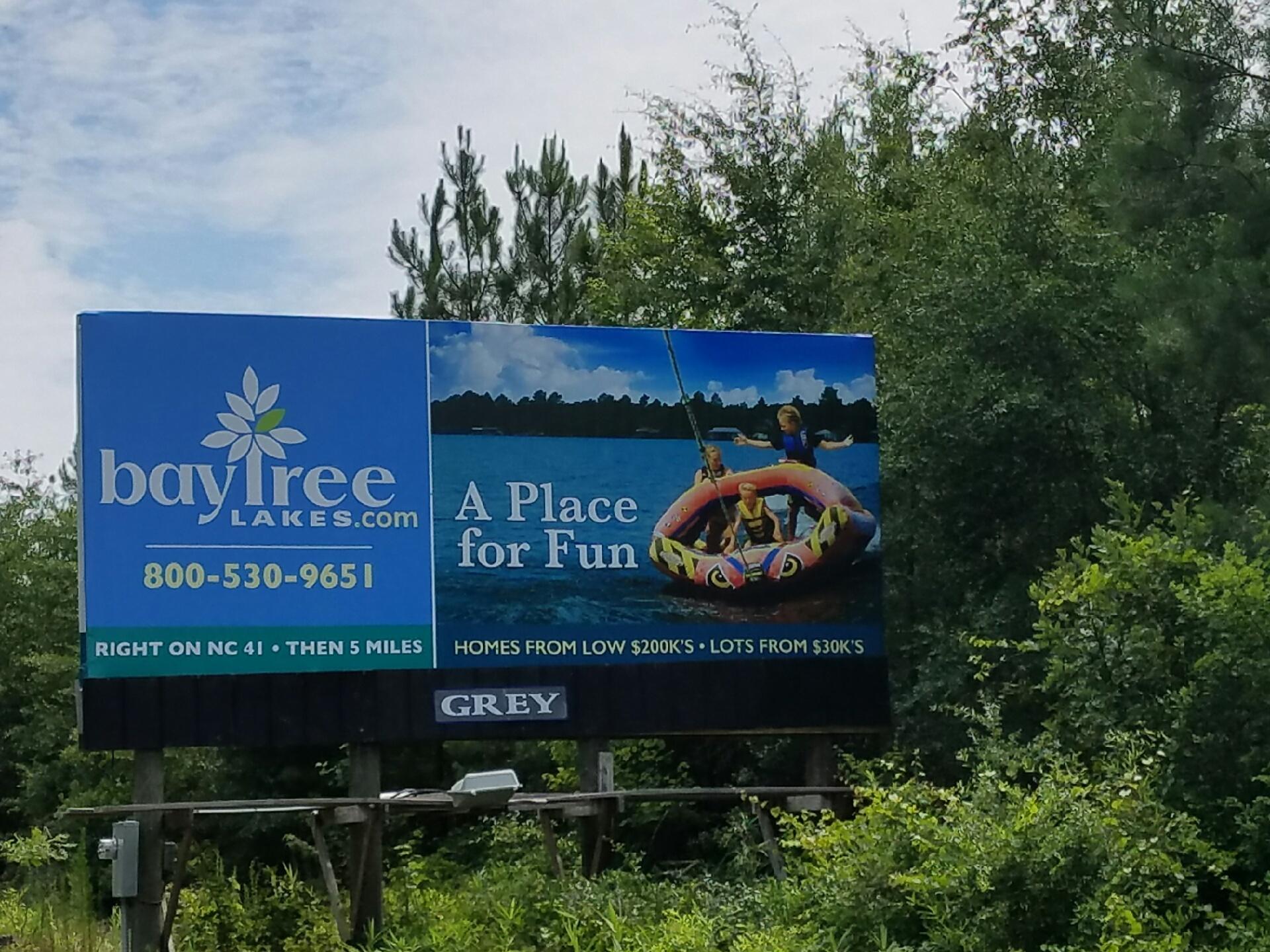 bay tree lakes billboard